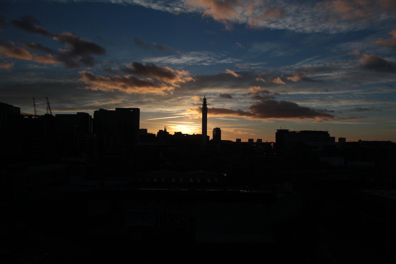 Birmingham Skyline Sunset